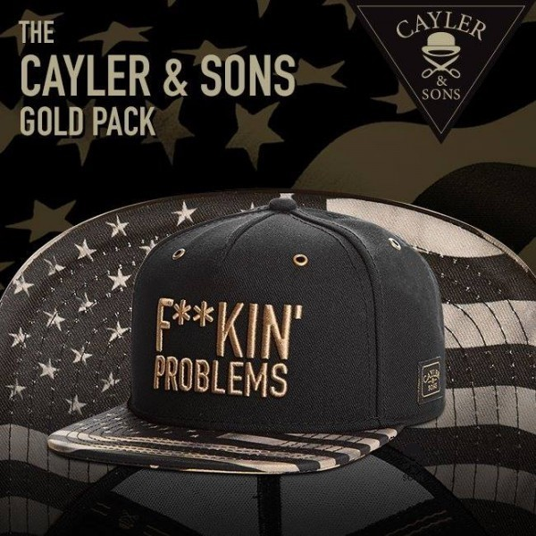 cayler-and-sons-fuckin-problems-gold-edition-snapback купить украина